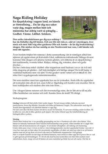 Läs mer... - Sweden Horse Riding