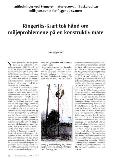 Les om saken i Synneren naturreservat - Norsk Ornitologisk Forening