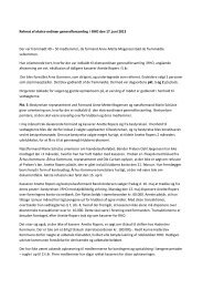 Referat fra ekstraordinær generalforsamling d.17.juni 2013