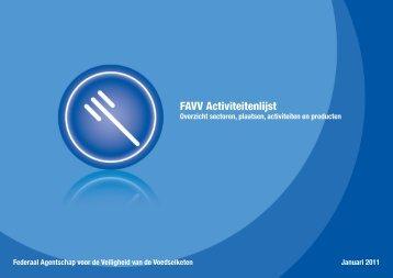 """""""FAVV activiteitenlijst""""(2812 kb) (.pdf) - Favv-fin.be"""