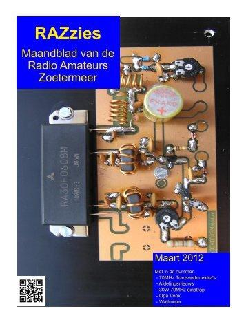 Maart - de PI4RAZ website