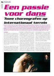 Twee choreografen op internationaal terrein - Retina Dance Company