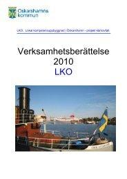 Verksamhetsberättelse 2010 LKO - Oskarshamn