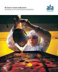 Skriften: Kvinnor inom industrin - AFA Försäkring