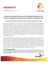 PERSBERICHT - Anheuser-Busch InBev