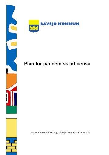 Plan för pandemisk influensa - Sävsjö kommun