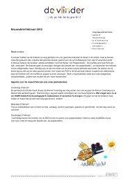 Kinderdagverblijf de Vlinder Enschede Nieuwsbrief februari