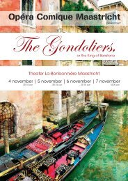 The Gondoliers - Opéra Comique Maastricht