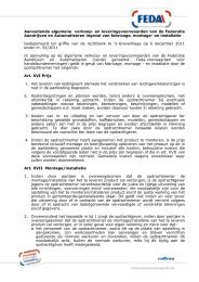 FEDA Aanvullende algemene voorwaarden