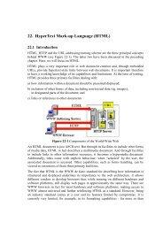 22. HyperText Mark-up Language (HTML)