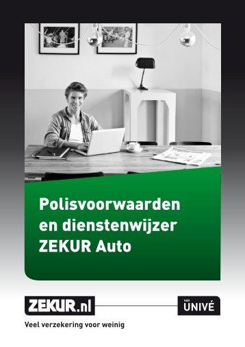 Polisvoorwaarden en dienstenwijzer ZEKUR Auto