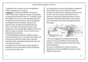 Edvard Faustman Dagbok 13 - WENDELAS VÄNNER