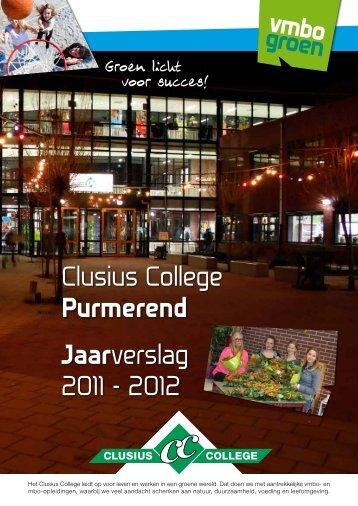 Clusius College Purmerend Jaarverslag 2011 - 2012