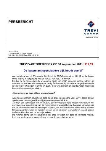 Trevi Index derde kwartaal 2011