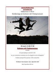 föreläsnings om kvinnors roll i fredsprocessen - Svenska Röda Korset