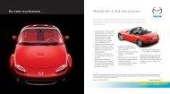 Mazda MX-5 3rd Generation. De zeer exclusieve … Onge - MX5-Club