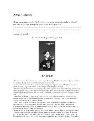 Bijlage 3: Lefgozers LEFGOZERS