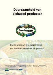 Duurzaamheid van biobased producten - Welkom bij Groene ...
