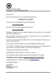 Lørdag den 15. juni 2013 Tilmelding snarest muligt og ... - Martec klub