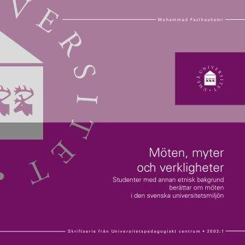Möten, myter och verkligheter - Universitetspedagogiskt centrum ...