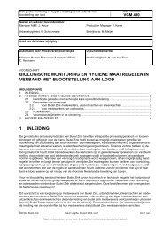 VGM430 Biologische Monitoring ivm werken met lood en ... - Nyrstar