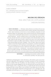 Musik og design - Aarhus Universitetsforlag