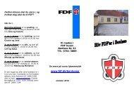 Hvilken klasse skal du være i, og hvilken dag - FDF
