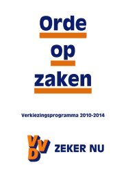 VVD verkiezingsprogramma 2010 - Parlement & Politiek