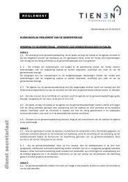 Huishoudelijk reglement gemeenteraad - Stad Tienen