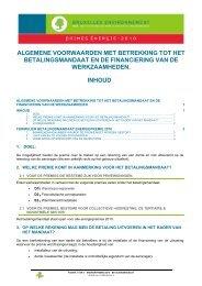 ALGEMENE VOORWAARDEN MET BETREKKING TOT HET ... - Ibge