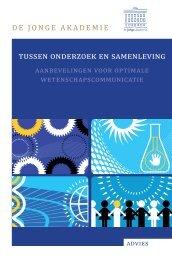 Tussen Onderzoek en Samenleving (PDF). - De Jonge Akademie
