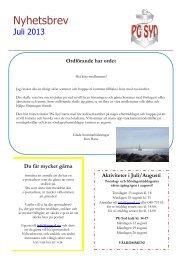 Nyhetsbrev Juli 2013 - Positiva gruppen