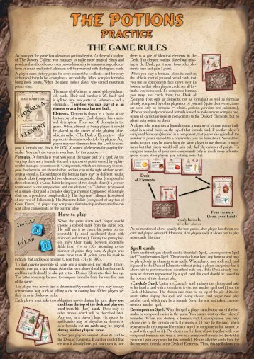 As you open the game box a lesson of potions begins. At the end a ...