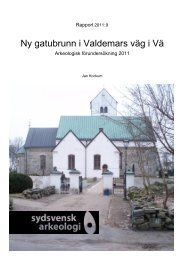 Ny gatubrunn i Valdemars väg i Vä, Vä sn, FU 2011, Jan Kockum ...