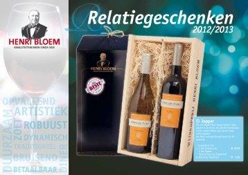 Relatiegeschenken - Wijnkoperij Henri Bloem