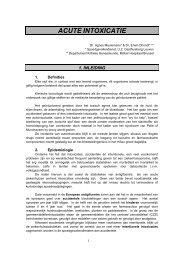 Meulemans A. - Acute Intoxicaties - Brevet Acute Geneeskunde