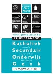 brochure studieaanbod 2013-2014 - Scholengemeenschap SINT ...