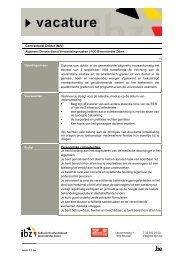 vacature - Federale Overheidsdienst Binnenlandse Zaken