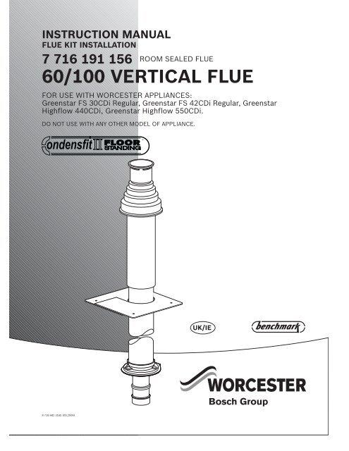 60/100 vertical flue instructions  worcester bosch