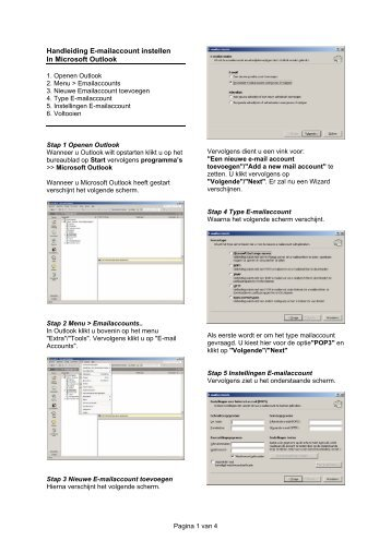 Instellen E-mail - Makra Automatisering