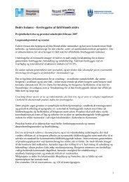 Bedre balance - forebyggelse af fald blandt ældre - Bispebjerg ...