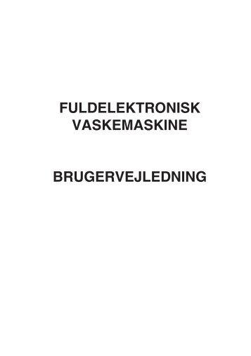 fuldelektronisk vaskemaskine brugervejledning - Hvidt & Frit