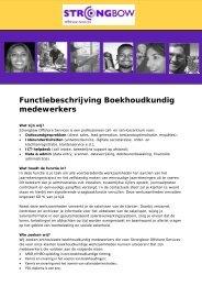 Boekhoudkundig medewerkers - Strongbow Offshore
