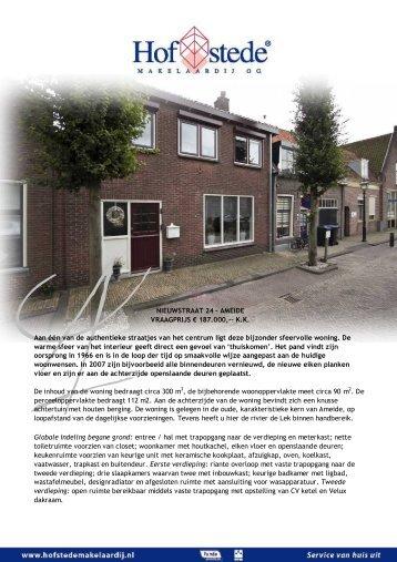 nieuwstraat 24 - ameide - Hofstede Makelaardij