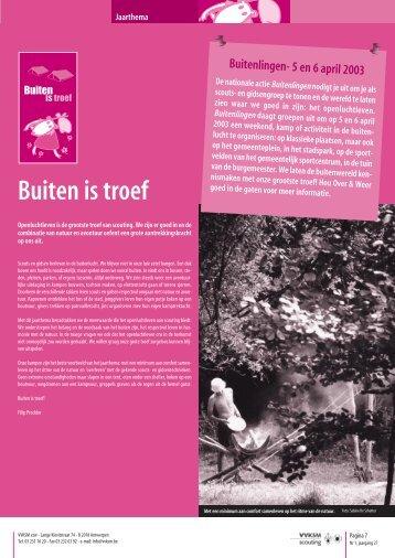 Jaarthema: Buiten is troef - Scouts en Gidsen Vlaanderen