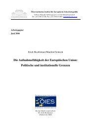 Die Aufnahmefähigkeit der Europäischen Union - AIES