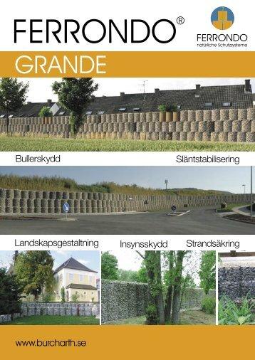 Släntstabilisering Sichtschutz Landskapsgestaltning ... - Ferrondo