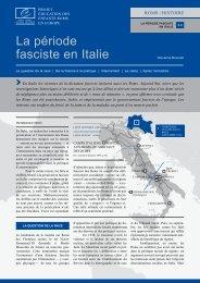 la période fasciste en italie