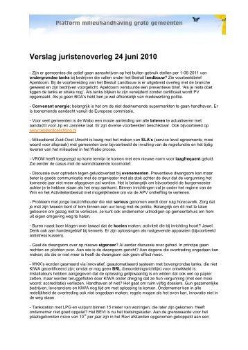 Verslag juristenoverleg 11 mei 2006 - Pmgg