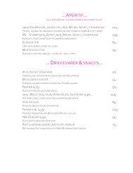 …APERITIF… …DRIKKEVARER &SNACKS… - Restaurant Piaf